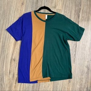 American Apparel Green and Purple T shirt